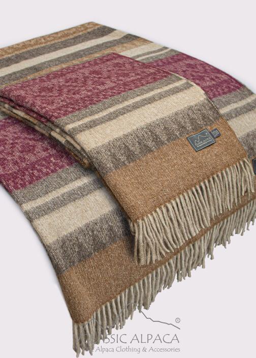 Alpaca Cherokee Blanket   Classic Alpaca Peru