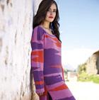Geometric Alpaca Long Sweater Dress