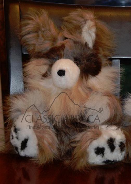 BABY ALPACA FUR - Standing Bunny Ornament 10 inches