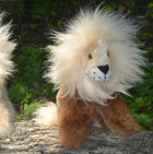 BABY Alpaca Fur - Sitting Lion Ornament