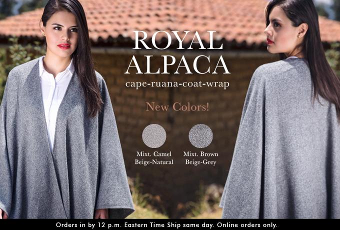 Royal Alpaca Cape-Ruana-Coat-Wrap