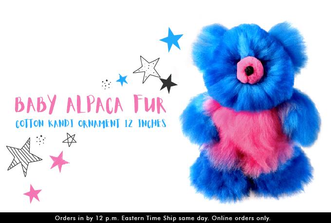 BABY ALPACA Fur - Cotton Kandi Ornament 12 inches