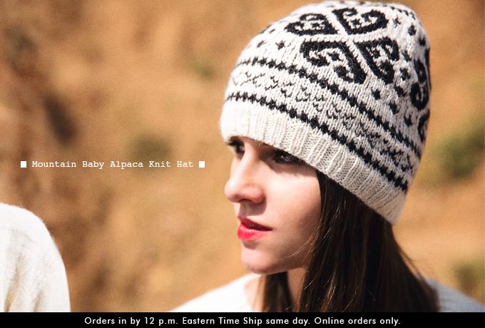 Mountain Baby Alpaca Knit Hat