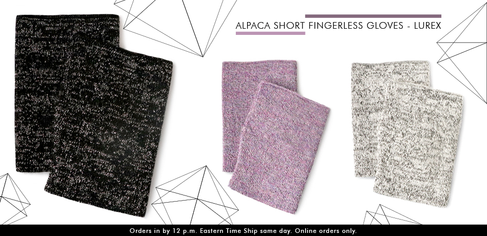 Alpaca Short Fingerless Gloves Wholesale