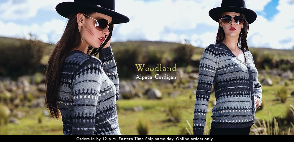 Woodland Alpaca Cardigan