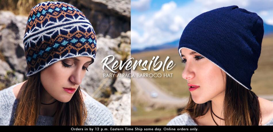Reversible Baby Alpaca Barroco Hat