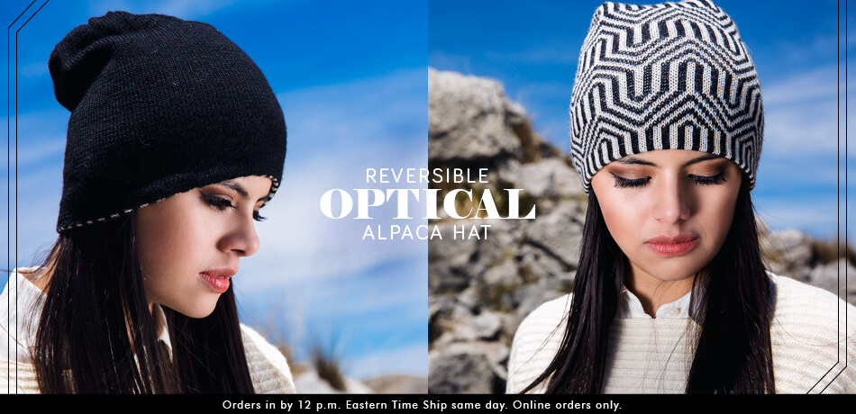 Reversible Optical Alpaca Hat