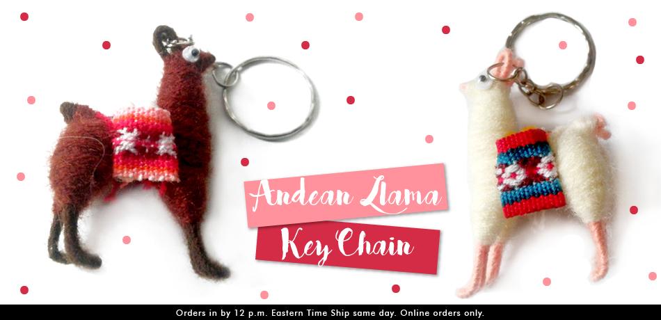 Andean Llama Key Chain