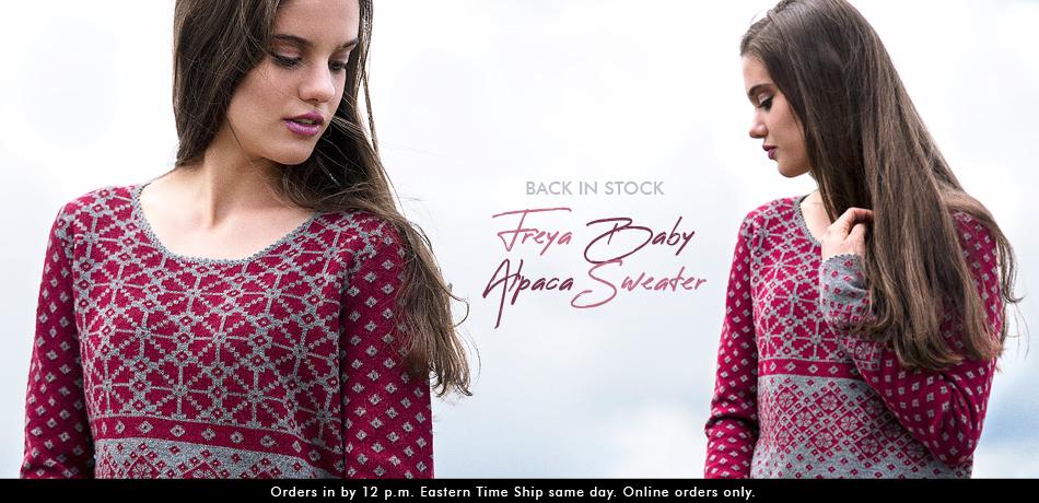 Freya Baby Alpaca Sweater
