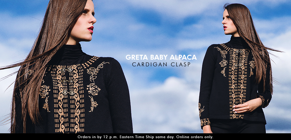 Greta Baby Alpaca Cardigan Clasp