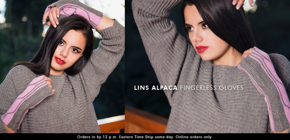 Lins Alpaca Fingerless Gloves