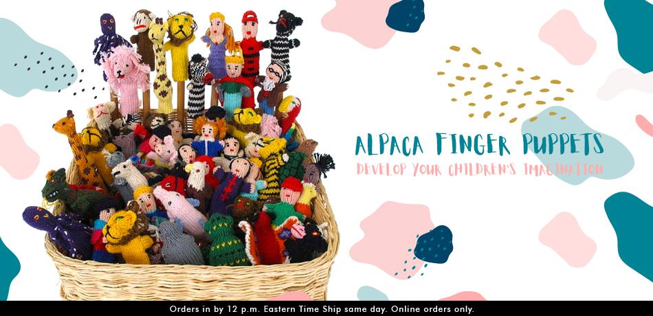 Alpaca Finger Puppet - 25 - Various
