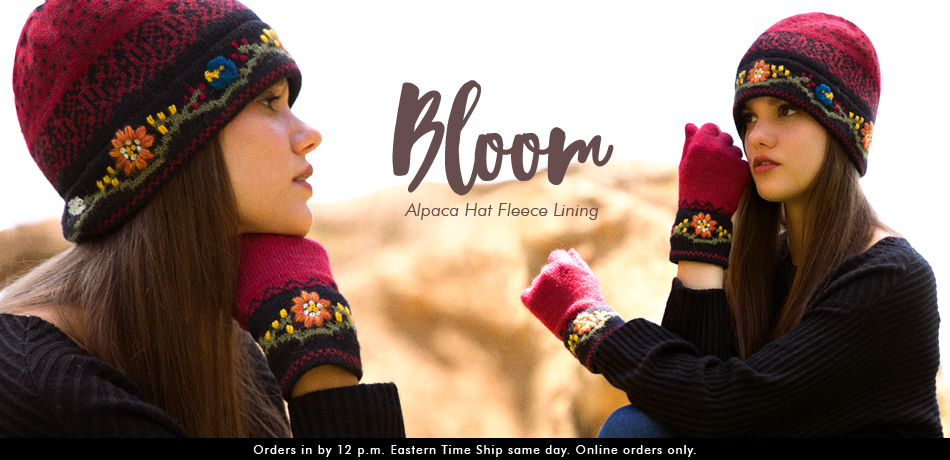 Bloom Alpaca Hat-Fleece Lining