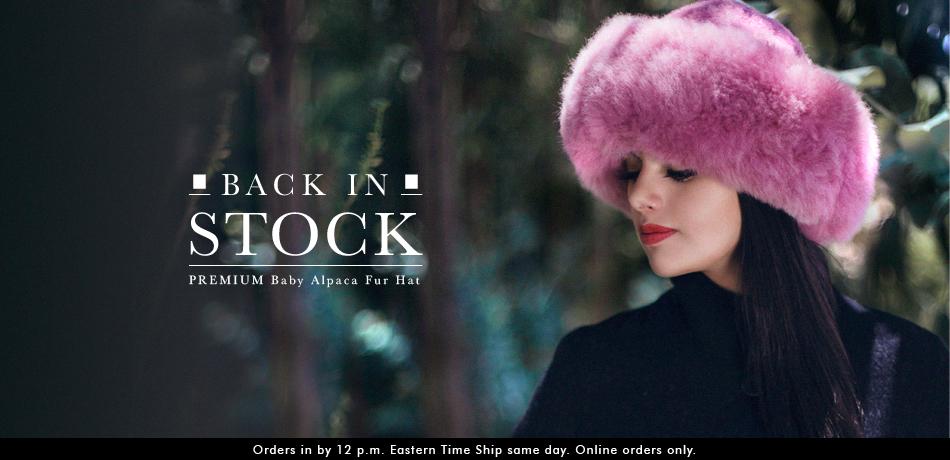 PREMIUM Baby Alpaca Fur Hat