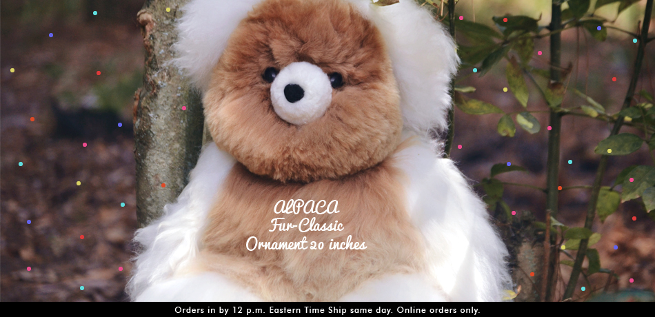 ALPACA Fur-Classic Ornament 20 inches