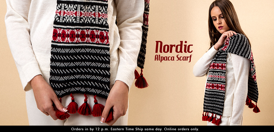 Nordic Alpaca Scarf