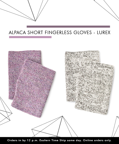 Alpaca Short Fingerless Gloves Wholesale