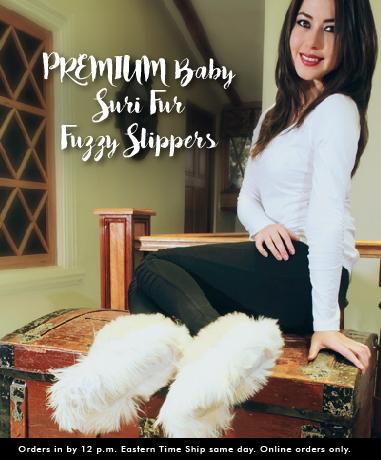 PREMIUM Baby Suri Fur Fuzzy Slippers