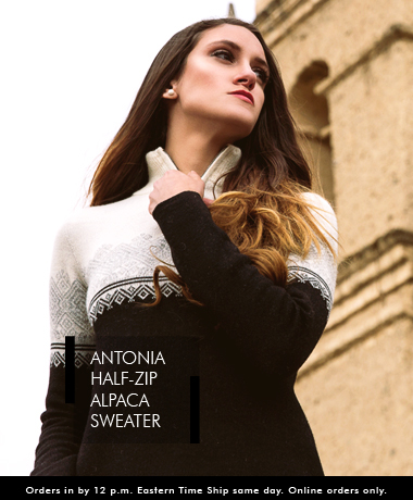 Antonia Half-Zip Alpaca Sweater