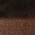 Amber Mlge.-FurBrown Alpaca Cable Fingerless Gloves with Fur