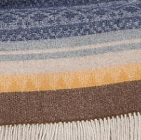 C0308-Navy/Brown/Orange Alpaca Cherokee Blanket