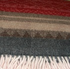 C0307-Red/Grey/Brown Alpaca Cherokee Blanket