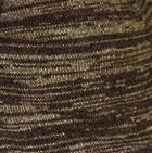 Classic Alpaca Men's Cardigan with Leather in Cinnamon Mlg.-Brown Mlg.