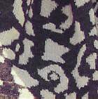 Purple-Sand Melange Animal Print Baby Alpaca Infinity Scarf