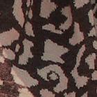 Henna Melange-Sand Melange Animal Print Baby Alpaca Infinity Scarf