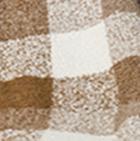 Plaid Boucle Alpaca Throw in Camel-Chesnut Brown-Natural | Classic Alpaca Peru