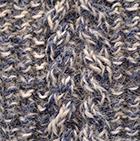 Alpaca Cable Fingerless Gloves in Denim-Natural | Classic Alpaca Peru