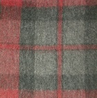 Scottish Blanket in 101-Red/Grey | Classic Alpaca Peru