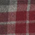 Scottish Blanket in 62-103-Wine/Grey | Classic Alpaca Peru