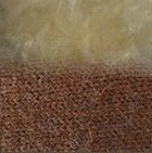 Amber Mlge.-FurBeige Alpaca Cable Fingerless Gloves with Fur