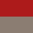 Red-Taupe Glacier Baby Alpaca Hat