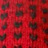 Alpaca Thrummed Mittens in Red-Black   Classic Alpaca Peru