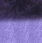 Lavender-FurPurple Alpaca Cable Fingerless Gloves with Fur