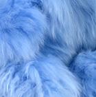 Powder Blue PREMIUM Baby Suri Fur - Classic Ornament 15 inches