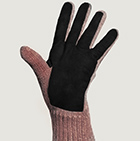 Henna Mlge.-Black Alpaca Double Layer Driving Gloves