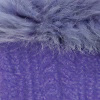 Lavender-Lt. Purple Alpaca Cable Fingerless Gloves with Fur