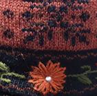 Alpaca Embroidered Leaf Gloves in Lt. Orange | Classic Alpaca Peru