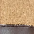 Alpaca Coat Leather Belt in Camel-Brown