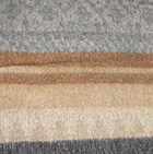 Alpaca Cherokee Blanket in C0316-Camel/Grey/Silver | Classic Alpaca Peru