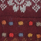 Burgundy Intiwara Alpaca Glittens with broach