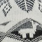 Black-Natural.-Grey Mlge. Reversible Alpaquita Knit Hat