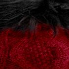 Red-FurBlack Diamond Cable Alpaca Fur Suri Hat