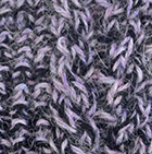 Mixt. Lilac Mlg.-Black Alpaca Cable Fingerless Gloves