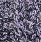 Alpaca Cable Fingerless Gloves in Mixt. Lilac Mlg.-Black | Classic Alpaca Peru