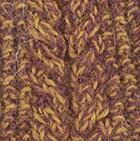 Alpaca Cable Fingerless Gloves in Mixt. Mulberry-Gold | Classic Alpaca Peru
