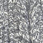Alpaca Cable Fingerless Gloves in Mixt. Natural-Grey Mlg. | Classic Alpaca Peru